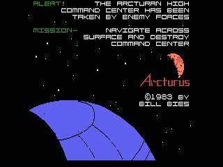 Arcturus opening screen
