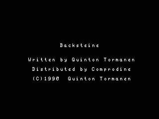 Backsteine opening screen