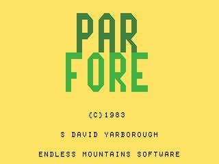 Par Fore opening screen