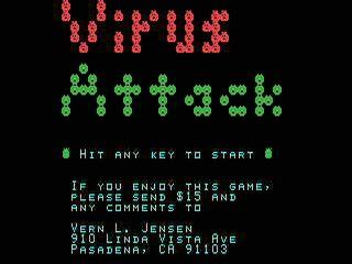 Virus Attack opening screen