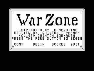 War Zone opening screen